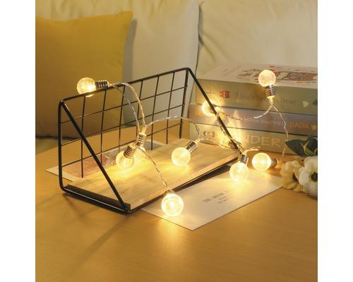 Sommerlichterkette 0,9m 10 LED warmweiß Birne