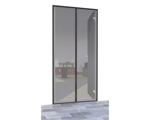 Türvorhang mit Magnetverschluss home protect Premium anthrazit 100x220 cm