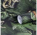 Vliestapete 108222 Dschungel schwarz