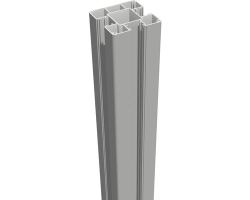 Torpfosten GroJa Lumino zum Einbetonieren 7 x 7 x 240 cm silbergrau