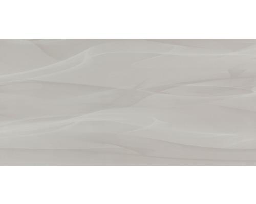 Steingut Wandfliese Macao grau Schlieren 30 x 60 cm