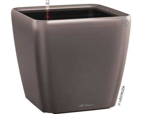 Pflanzkübel Lechuza Quadro 43 x 43 x H 39 cm espresso inkl. Erdbewässerungsystem Pflanzeinsatz Substrat Wasserstandsanzeiger