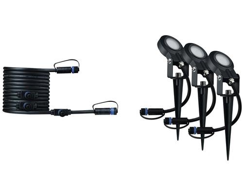 Plug & Shine LED Erdspieß Ergänzungsset IP67 dimmbar 3x6W 270 lm 3000 K warmweiß anthrazit 230/24V 3 Stück