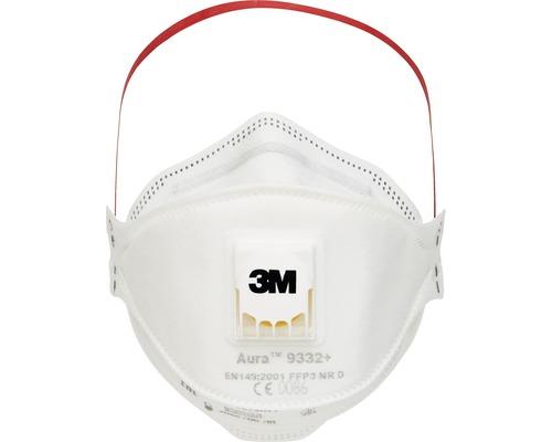 Atemschutzmaske 3M™ 9332 Pro 10, 10 Stück Schutzklasse FFP3 EN 149:2001 + A1:2009