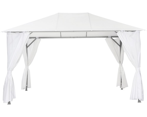 Pavillon Kabara 4x3x2,8 m Polyester 180 g/m² weiß