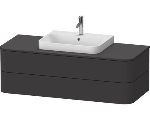 Waschtischunterschrank Happy D.2 Plus 130 x 55 cm graphit supermatt HP496208080