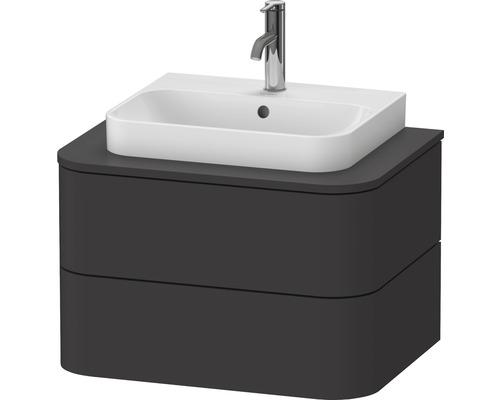 Waschtischunterschrank Happy D.2 Plus 65 x 55 cm graphit supermatt ohne Waschtisch und Konsole HP496008080