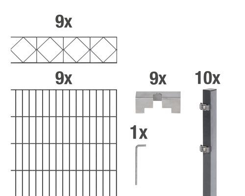 Doppelstabmatten-Set Bergen 200 x 160 cm, 18 m, anthrazit