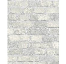 Vliestapete 58411 Stein grau mit Granulat
