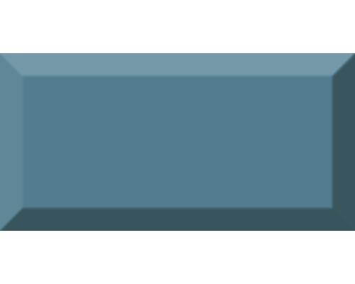 Metro-Fliese mit Facette Teal glänzend 10 x 20 cm