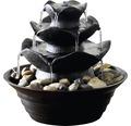 Design Zimmerbrunnen mit 4 Schalen 22,2x22,2x20,6 cm Kunststein schwarz inkl. Schlauch und Pumpe