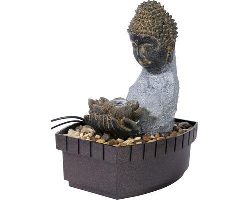 Design Zimmerbrunnen Harmony 20,5x16,5x27 cm Kunststein grau inkl. Schlauch und Pumpe