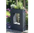 Design Gartenbrunnen mit Pflanzeinsatz 54,5x19x76 cm Kunststein grau inkl. Schlauch und Pumpe
