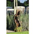 Gartenbrunnen mit LEDs in Baumstammform 33x28x78 cm Kunststein braun inkl. Schlauch und Pumpe