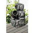 Design Zimmerbrunnen mit Amphore 17,2x16,2x27 cm Kunststein grau inkl. Schlauch und Pumpe