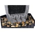Design Zimmerbrunnen mit Ziersteinen klein 20,5x16,5x28 cm Kunststein grau inkl. Schlauch und Pumpe