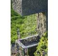 Gartenbrunnen mit LED und Pflanzenoption 39x20,5x70 cm Kunststein grau inkl. Schlauch und Pumpe