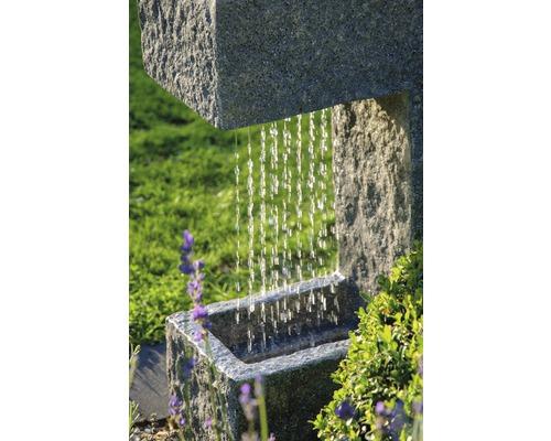 Gartenbrunnen Mit Led Und Pflanzenoption 39x20 5x70 Cm Kunststein Grau Inkl Schlauch Und Pumpe Bei Hornbach Kaufen