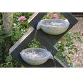 Gartenbrunnen mit LEDs und 4 Schalen 41,5x20,5x100,5 cm Kunststein grau inkl. Schlauch und Pumpe