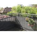 Balkonbespannung PE 90 x 300 cm anthrazit