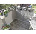 Balkonbespannung Rattan 90 x 300 cm titangrau