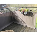 Balkonbespannung Rattan 90 x 300 cm mocca/anthrazit