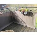 Balkonbespannung Rattan 75 x 300 cm mocca/anthrazit