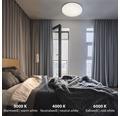 LED Deckenleuchte dimmbar Sternenhimmel 48W 4000 lm 3000-6000 K warmweiß - neutralweiß HxØ 85x595 mm weiß mit Nachtlichtfunktion + Fernbedienung