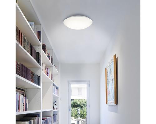 LED Sensor Deckenleuchte IP44 20W 2000 lm 4000 K neutralweiß HxØ 96x402 mm weiß mit 360° Bewegungsmelder Tageslichtsensor