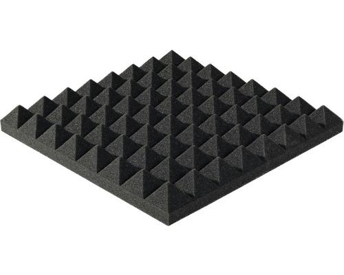 Akustik-Schaumstoff Akupur Pyramidenplatte 40x40x3 cm