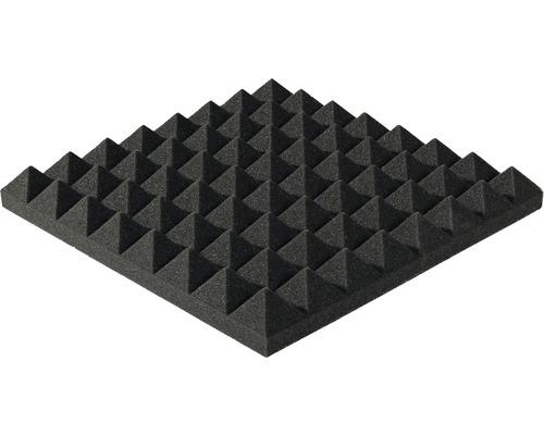 Akustik-Schaumstoff Akupur Pyramidenplatte 40x40x5 cm