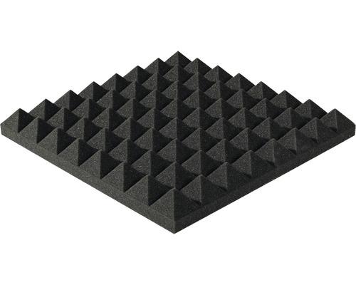Akustik-Schaumstoff Akupur Pyramidenplatte 40x40x7 cm