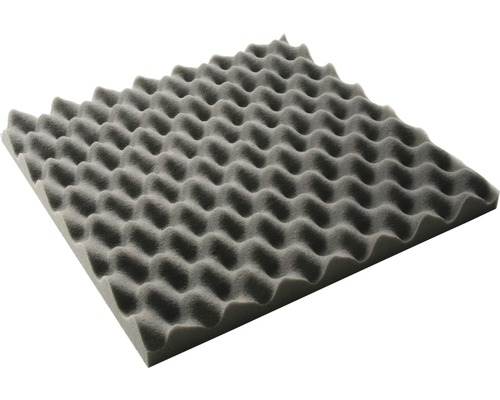 Akustik-Schaumstoff Akupur Noppenplatte 40x40x3 cm