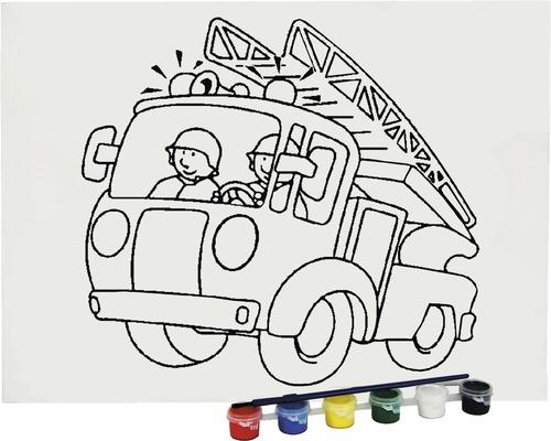 Ausmalbild Feuerwehrauto 30x40