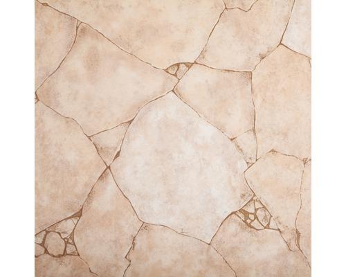 CV PVC-Belag verf/ügbar in der Breite 200 cm /& L/änge 500 cm CV-Boden wird in ben/ötigter Gr/ö/ße als Meterware geliefert /& pflegeleicht PVC Vinyl-Bodenbelag Bruchstein-Optik rot-braun