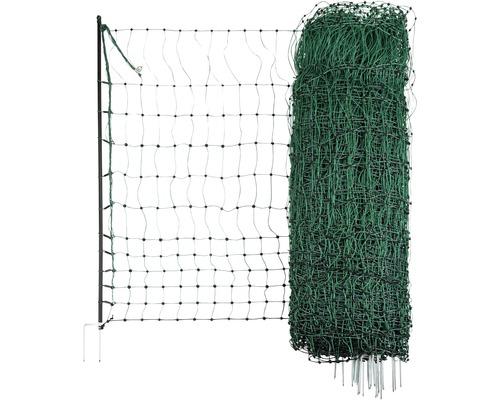 Geflügelnetz Doppelspitze elektrisch leitend 5000 x 106 cm grün