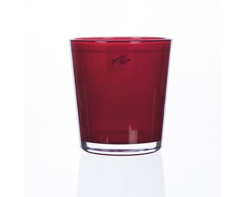 Übertopf für Orchiedeen Ø 12,5 cm H 13,5 cm Glas rot