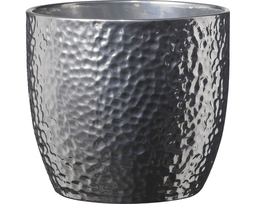 Übertopf Boston Ø 35 cm H 33 cm Keramik silber