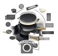 Tenneker® Holzkohlegrill Eclipse Ø 29 + 48 cm 2 Grillebenen, Platform System Stahl schwarz