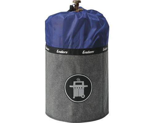 Enders Schutzhülle Gasflaschenhülle Abdeckhülle Style passend für 11 kg Gasflaschen Polyester blau wasserabweisend feuerfest UV-Schutz inkl. Silikonfüße