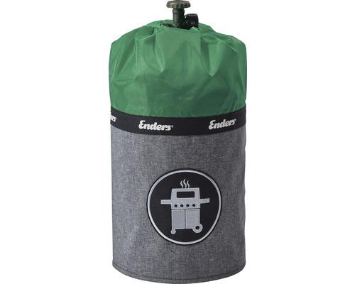 Enders Schutzhülle Gasflaschenhülle Abdeckhülle Style passend für 5 kg Gasflaschen Polyester grün wasserabweisend feuerfest UV-Schutz inkl. Silikonfüße