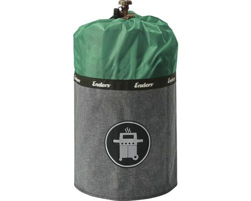 Enders Schutzhülle Gasflaschenhülle Abdeckhülle Style passend für 11 kg Gasflaschen Polyester grün wasserabweisend feuerfest UV-Schutz inkl. Silikonfüße