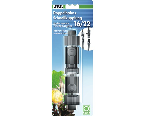 Doppelhahn + Schnellkupplung JBL 16/22