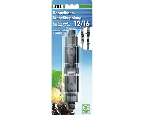 Doppelhahn + Schnellkupplung JBL 12/16