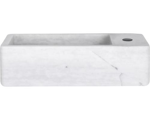 Handwaschbecken Hura L 40 x 22 cm Marmor weiß bei HORNBACH kaufen