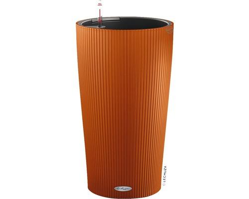 Pflanzvase Lechuza Cilindro Color Ø 32 cm H 56 cm Kunststoff orange inkl. Erdbewässerungsystem, Pflanzeinsatz, Substrat und Wasserstandsanzeiger