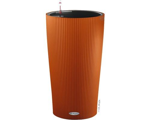 Pflanzvase Lechuza Cilindro Color Ø 23 cm H 41 cm Kunststoff orange inkl. Erdbewässerungsystem, Pflanzeinsatz, Substrat und Wasserstandsanzeiger
