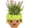 Blumentopf Lechuza Ojo H 16 cm Kunststoff grün inkl. Wasserstandsanzeiger und Erdbewässerungsystem