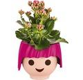 Blumentopf Lechuza Ojo H 16 cm Kunststoff pink inkl.Wasserstandsanzeiger und Erdbewässerungsystem
