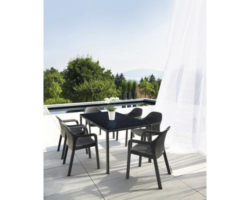 Lechuza Gartentisch Kunststoff 160 X 90 Cm Granit Mit Hpl Tischplatte Bei Hornbach Kaufen